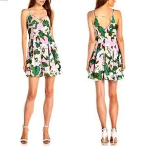 Lucca Couture Floral Print Fit and Flare Dress